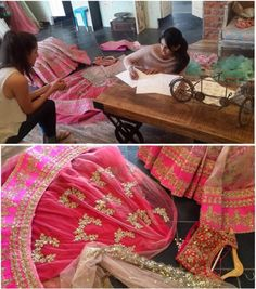 A gorgeous work in progress by the mastermind designer Anushree Reddy.