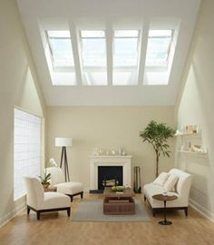 Skylight Ideas to Make Your Space Brighter - Best Of Skylight Ideas to Make Your Space Brighter, Want to Use Skylight Window by Velux or Similar to Make the Room Skylight Blinds, Skylight Window, Residential Skylights, Green Roof Benefits, Solar, My Living Room, Decoration, Your Space, Interior Design