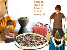 Lego storage kids-room - I am SO making one of these! Brilliant!