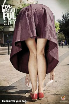For a beautiful city - Clean up after your dog - City of Belgrade Clever Advertising, Advertising Design, City Clean, Best Ads, Foto Pose, Photoshop Design, Up Girl, Print Ads, Pin Up