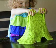 Make some edible stretchy slime. 19 activities / experiments curious toddlers will love to  do