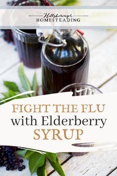 Protect your family from colds and flus this year with your own homemade elderberry syrup! A few simple ingredients and you can make your own at home. | Hillsborough Homesteading  #herbs #herbal #elderberrysyrup #herbalremedy