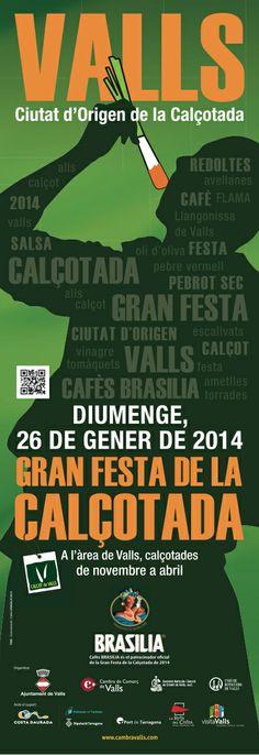 Cartell Gran Festa de la Calçotada de Valls 2014