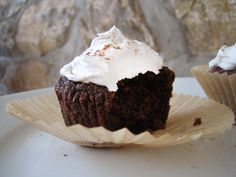 Cocoa Kale & Beet Cupcakes with Coconut Cream Frosting