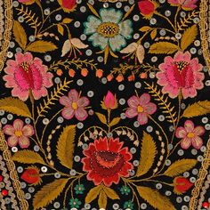 Folk Embroidery Patterns ♒ Enchanting Embroidery ♒ embroidered decoration on a bodice - Ethnographic Pattern Book - Hungarian Embroidery, Folk Embroidery, Vintage Embroidery, Embroidery Stitches, Embroidery Patterns, Flower Embroidery, Japanese Embroidery, Polish Embroidery, Indian Embroidery