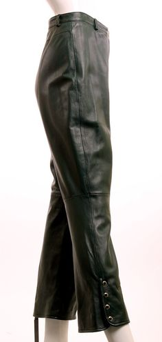 St John Collection Hunter Green Leather Pants Size 8 – London Couture