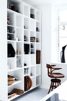 clean and simple shelving