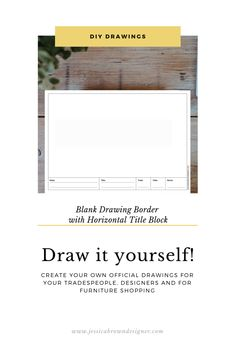 Templates for DIY Drawings, Spreadsheets, Kids and More by JessicaBrownDesigner