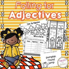 Falling for AdjectivesThis fall themed adjective pack has eight different activities. -Students will come up with 11 words to describe fall-Color the Adjectives page (with teacher answer key)- Students will write an adjective for a provided fall noun then students will write a noun for the provided adjective-One Interactive Notebook Page -Fall and Autumn Acrostic poem-Adjective search (with teacher answer key)-Adjective Fill in the Blank with the same story as the adjective search-Mini Task…