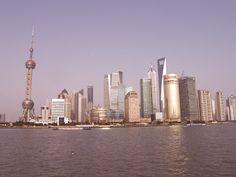the skyline of Shanghai, China