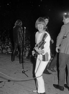 """Brian Jones of The Rolling Stones, during the band's concert at the """"Waldbuehn"""" ~ West Berlin, Germany Sept 1965 Brian Jones Rolling Stones, Los Rolling Stones, Rollin Stones, Ron Woods, Stone World, Today In History, Janis Joplin, Keith Richards, Album Songs"""