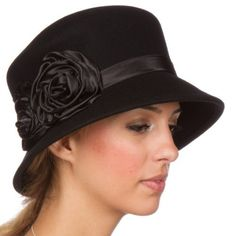 b8000cc6aa7 Modern classic vintage style cloche hat features soft wool construction
