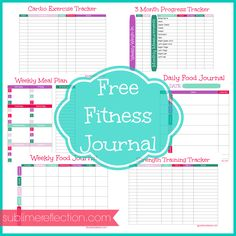 FREE Downloadable Fitness Journal - Sublime Reflection
