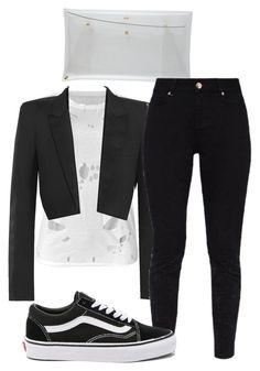 """""""#344"""" by mintgreenb on Polyvore featuring Yves Saint Laurent, Ted Baker and Vans"""