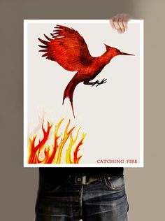 The Hunger Games Poster, Catching Fire - 16x20. $29.00, via Etsy.