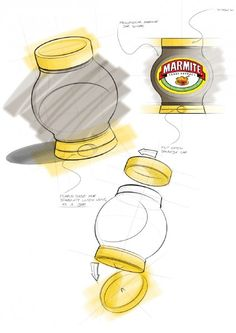 Get at all the Marmite. Marmite, Brand Packaging, Portfolio Design, Food And Drink, Jar, Branding, Sketching, Don't Forget, Household