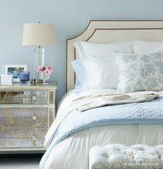 Blue & White Bedroom with sparkle :: Muse Interiors - Portfolio - INTERIORS