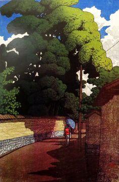Kawase Hasui『金沢下本多町』 旅みやげ第二集 1921年