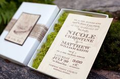 Moss Invitations.....awesome