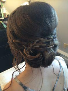 Braided updo by Kimberly Valosen