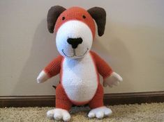 Kipper was one of the first toys I knit for my daughter, and taught me a lot about sewing! (Not my Kipper in the photo...need to take pics of all my knitting!)