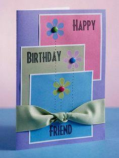 Pastel Layered Birthday Card