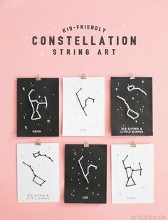 Kid Friendly Constellation String Art