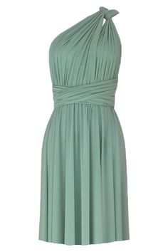 c7c15b8e78 Convertible bridesmaids dress Sage green infinity knee length dress Plus  size prom evening formal dress