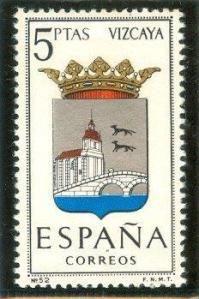 1966 España-Escudo de la Provincia de Viscaya Cat Clock, Magical Jewelry, My Stamp, Postage Stamps, World, Illustration, Arms, Coats, Journal