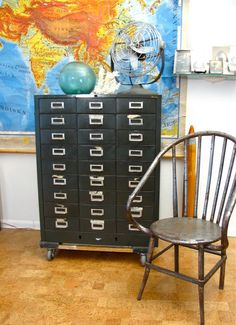 card catalog, apothecary cabinet, or anything like that- perfect for storing craft/art/random items