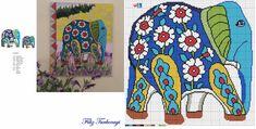 Cross Stitching, Cross Stitch Embroidery, Embroidery Patterns, Cross Stitch Designs, Cross Stitch Patterns, Elephant Cross Stitch, Biggest Elephant, Cross Stitch Pillow, Indian Elephant
