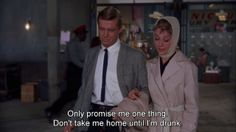 Getting drunk: The Breakfast At Tiffany's Edition.