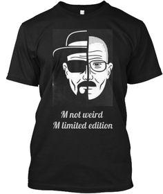 M Not Weird  M Limited Edition  Black T-Shirt Front
