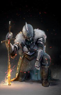 ArtStation - Faraam, hayato okuno Dark Souls Characters, Fantasy Characters, Fictional Characters, Fantasy Warrior, Dark Fantasy Art, Fantasy Artwork, Arte Dark Souls, Knight Tattoo, Crusader Knight