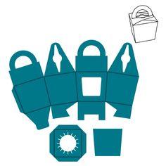 cupcakes box template - Buscar con Google Diy Paper, Paper Crafts, Packaging Box, Cupcake Packaging, Paper Box Template, Printable Box, Printables, Cupcake Boxes, Box Patterns