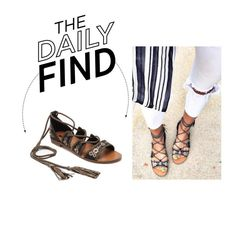 Daily Find: Forever 21 Embroidered Lace Up Sandals by polyvore-editorial on Polyvore featuring Forever 21 and DailyFind