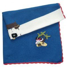 Pirate Theme Cot Blanket
