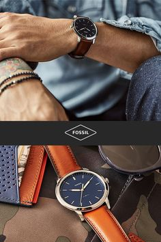 Classic watches with timeless style. Shop the latest Fossil watches for men.