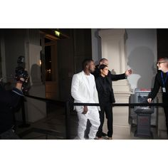 Kim and kanye the @diesel and @twEDUN paris launch event read our review http://www.africafashionguide.com/2013/03/soiree-diesel-x-edun-paris-launch-made-in-africa/