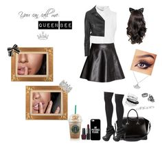 """""""Queen Bee"""" by alexandras666 ❤ liked on Polyvore featuring moda, Glamorous, Givenchy, H&M, Calvin Klein, Avenue, Kendra Scott, BaubleBar, Blue Nile y NARS Cosmetics"""