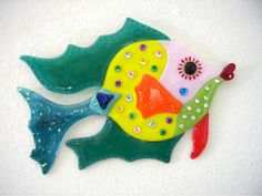 Fused+Glass+Funky+Artist | Smoochie The Angelfish