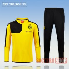 Current Top Quality Mens Borussia Dortmund 2015 2016 Yellow Tracksuit Personalised Customised | Thai Edition