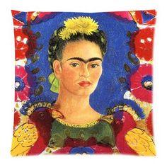 Frida Kahlo Cotton Linen Pillow Case Sofa Cushion Cover Fashion Home Decor 18x18