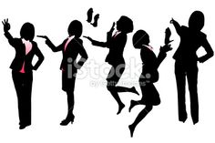 Silhouettes of Business woman Royalty Free Stock Vector Art Illustration