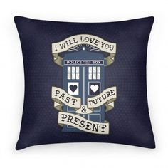 Doctor Who Tardis Pillow I must have this!!!!