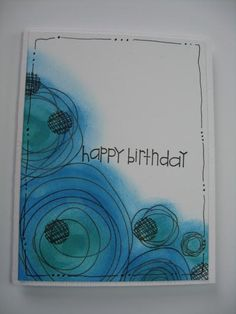 https://flic.kr/p/miFLLM | Scribble Birthday | I saw this beautiful card on Karen Dunbrook's blog using the sponged circle technique shown by Heather on her PTI blog and thought this would be ideal for a teenage boy card.