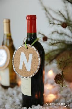 cork coaster gift tags #diy #gifts #holiday