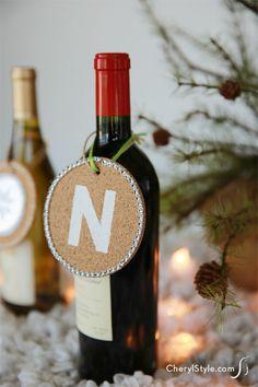 cork coaster gift tags #diy #gifts #holiday