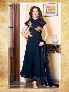 Scintillating Royal Blue Readymade Long Anarkali Suit - MPQV076C01A8T | Indian Trendz