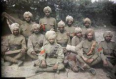 Autochrome de soldados indianos